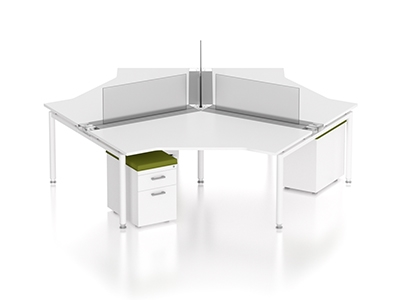 Z Series Open Concept Plan Benching Workstations By Compel Office Furniture.