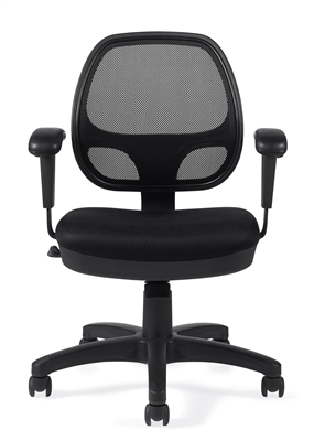 Small Mesh Office Chairs With Adjustable Arms At The Boca