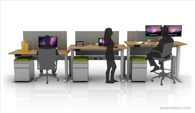 Active 1 Electric Height Adjustable Tables By Amq